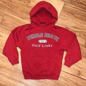Graphic sweatshirt Pebble beach red hood